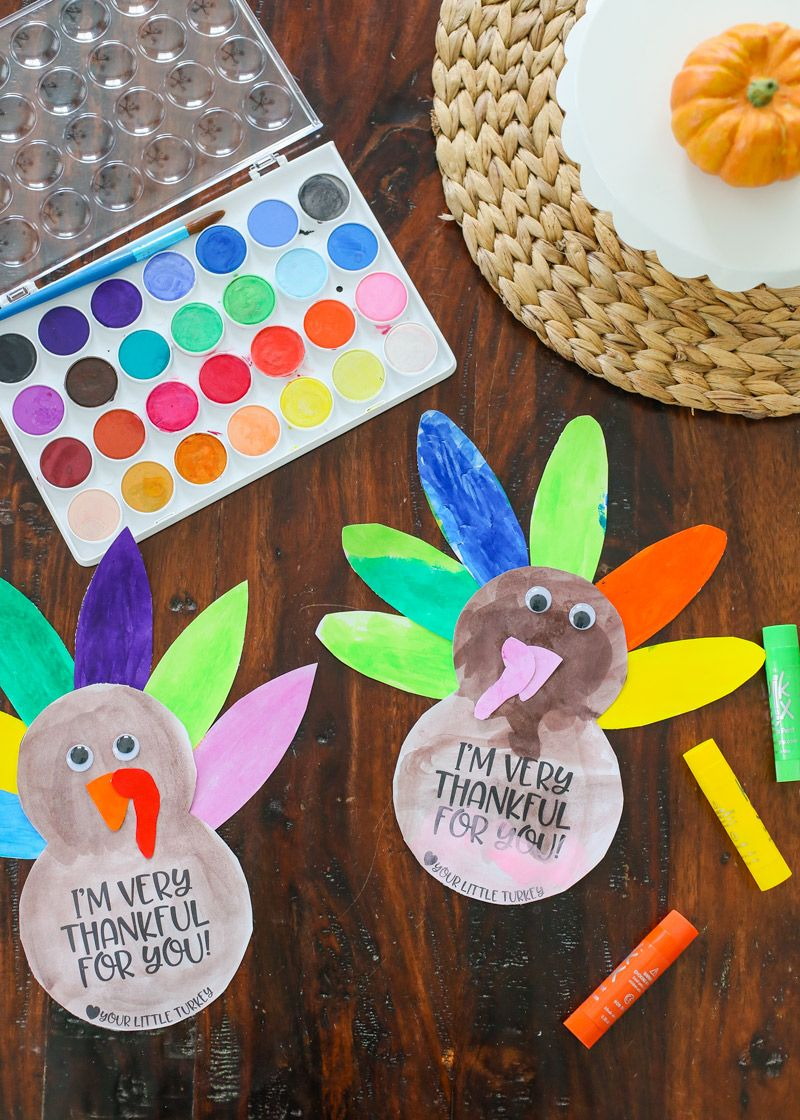 Simple Thanksgiving Turkey Kids Craft with FREE Printable