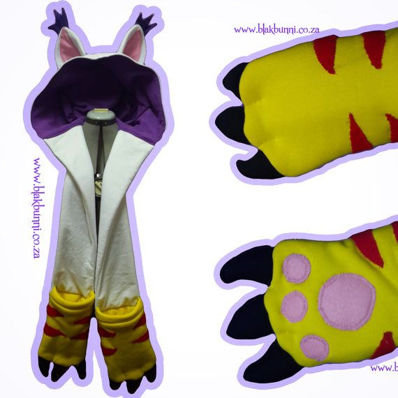 MADE TO ORDER Kitty Cat Fursuit Scoodie Snoot Gatomon Digimon ...