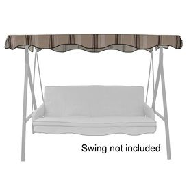 Garden Treasures Tan Steel 3 Person Replacement Porch Swing And