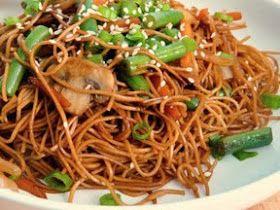 The Red Gingham: Vegetable Sesame Noodle Stir Fry