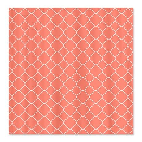 coral and grey chevron shower curtain   grey chevron, coral and gray