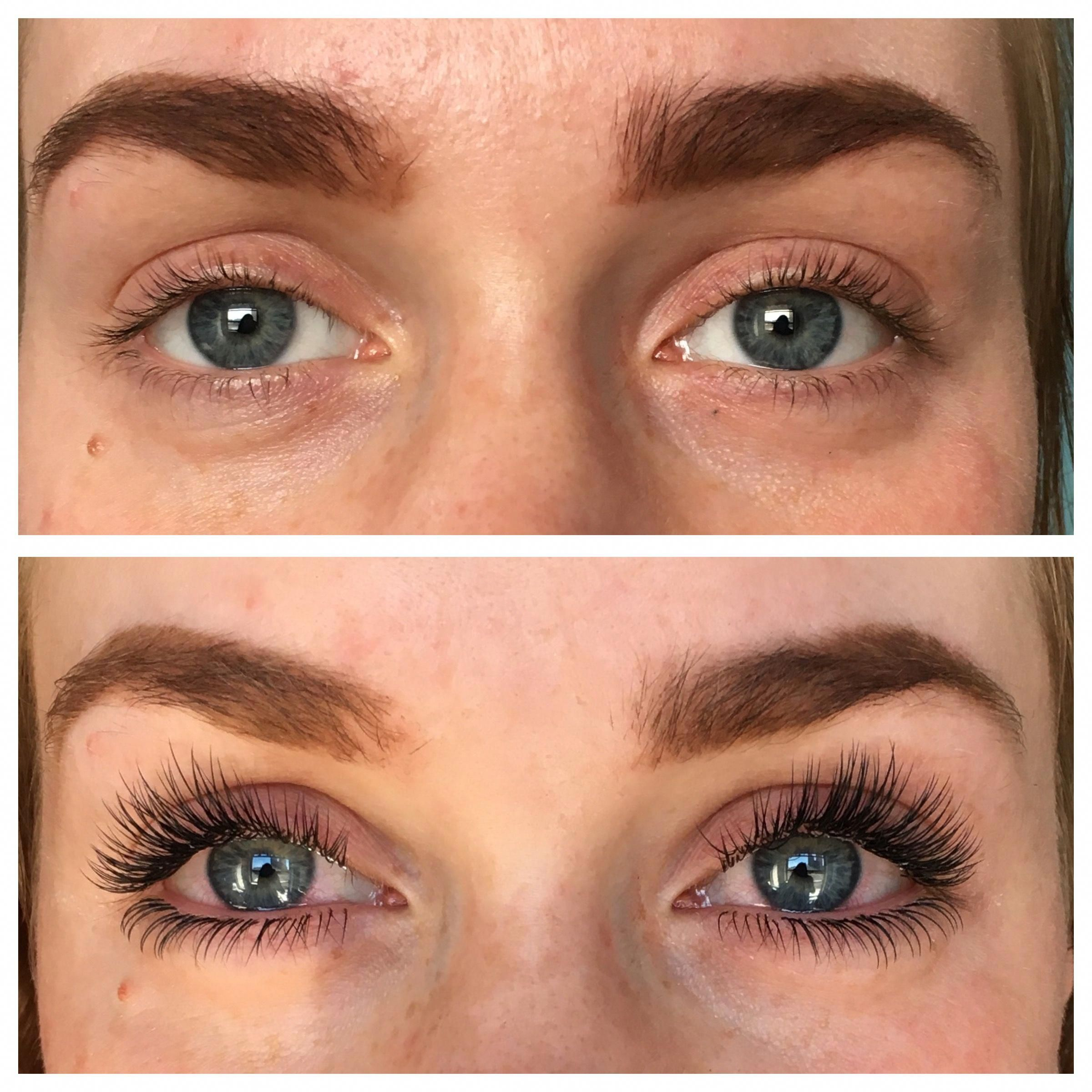 A complete eye makeover. Eyelash extensions at another