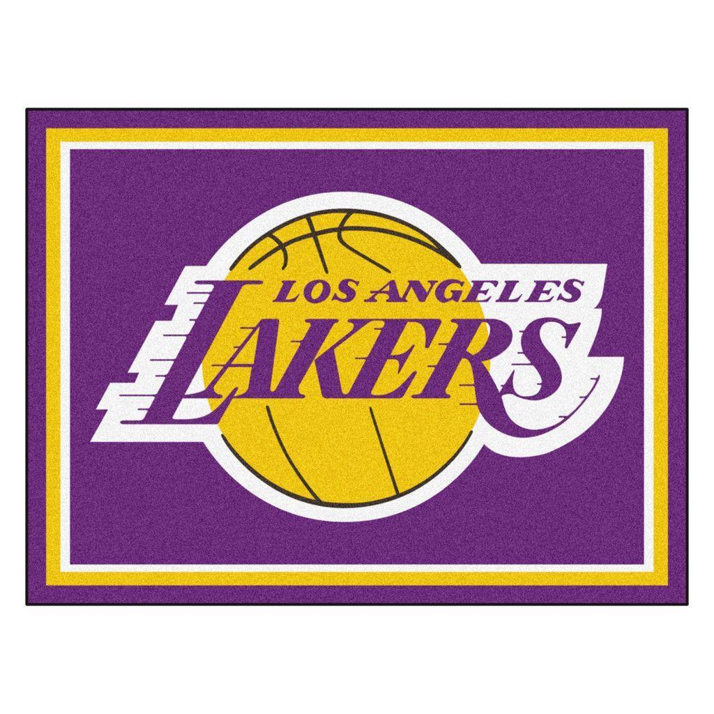 Los Angeles Lakers 8x10 Plush Area Rug  ddd1bca50