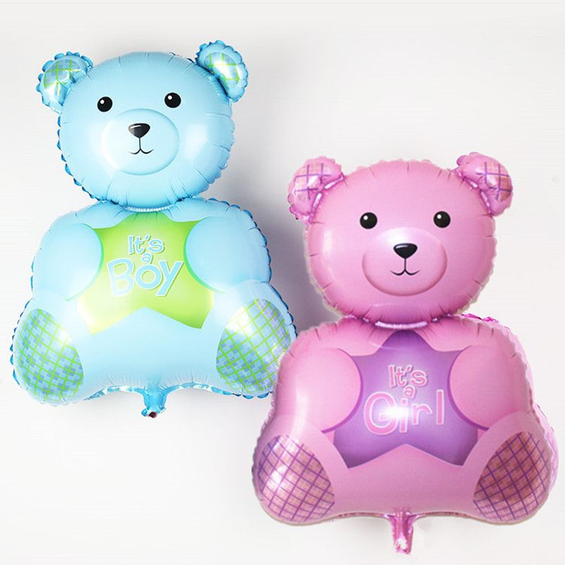 Lovely Boy Girl Bear Foil Balloons Inflatable Toy Helium Balloon