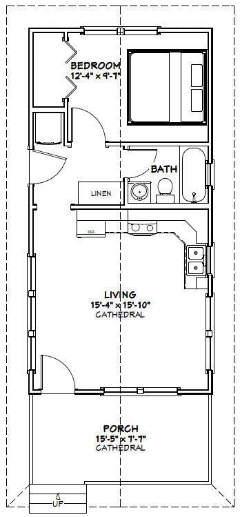 Details About 16x32 Tiny House 511 Sq Ft Pdf Floor
