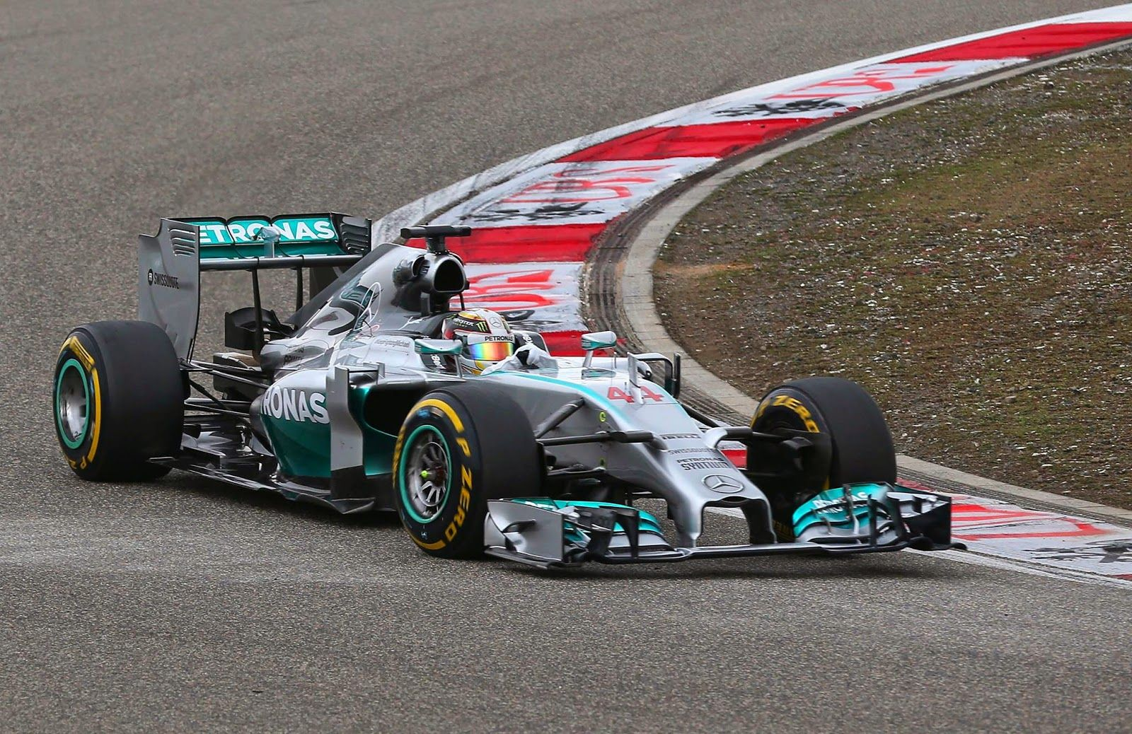 Lewis Hamilton of England and Mercedes GP win the China