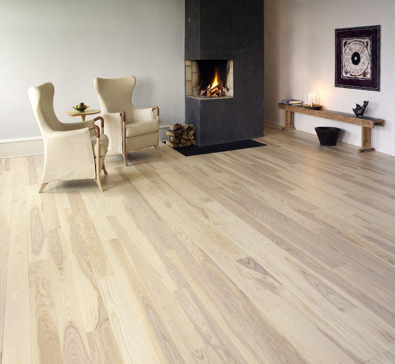 Northern Dark Ash Solid Wide Board Flooring Wood Floor House