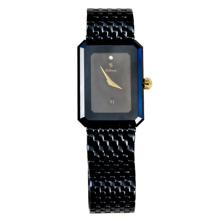 28b979ff849 H. STERN Sapphire Crystal Watch 2009 Sleek H.Stern Sapphire Crystal watch  Quartz  Swiss movement with date. Diamond on dial. Stainless steel and 18K  gold ...