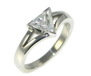 Trilliant Cut Diamond Engagement Ring
