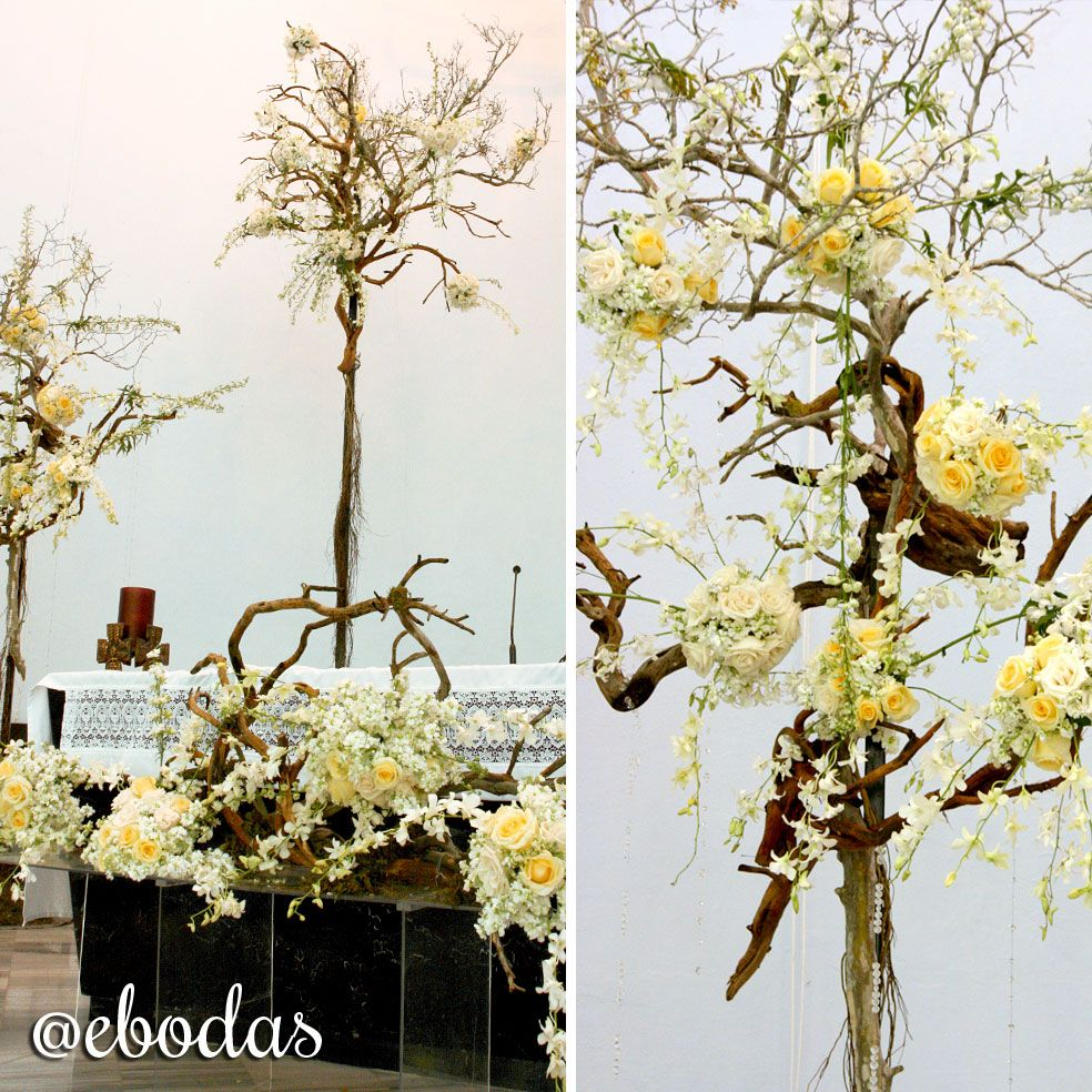 Te presentamos esta idea para la decoración de tu Iglesia al estilo Shabby Chic #flowers #wedding #ebodas