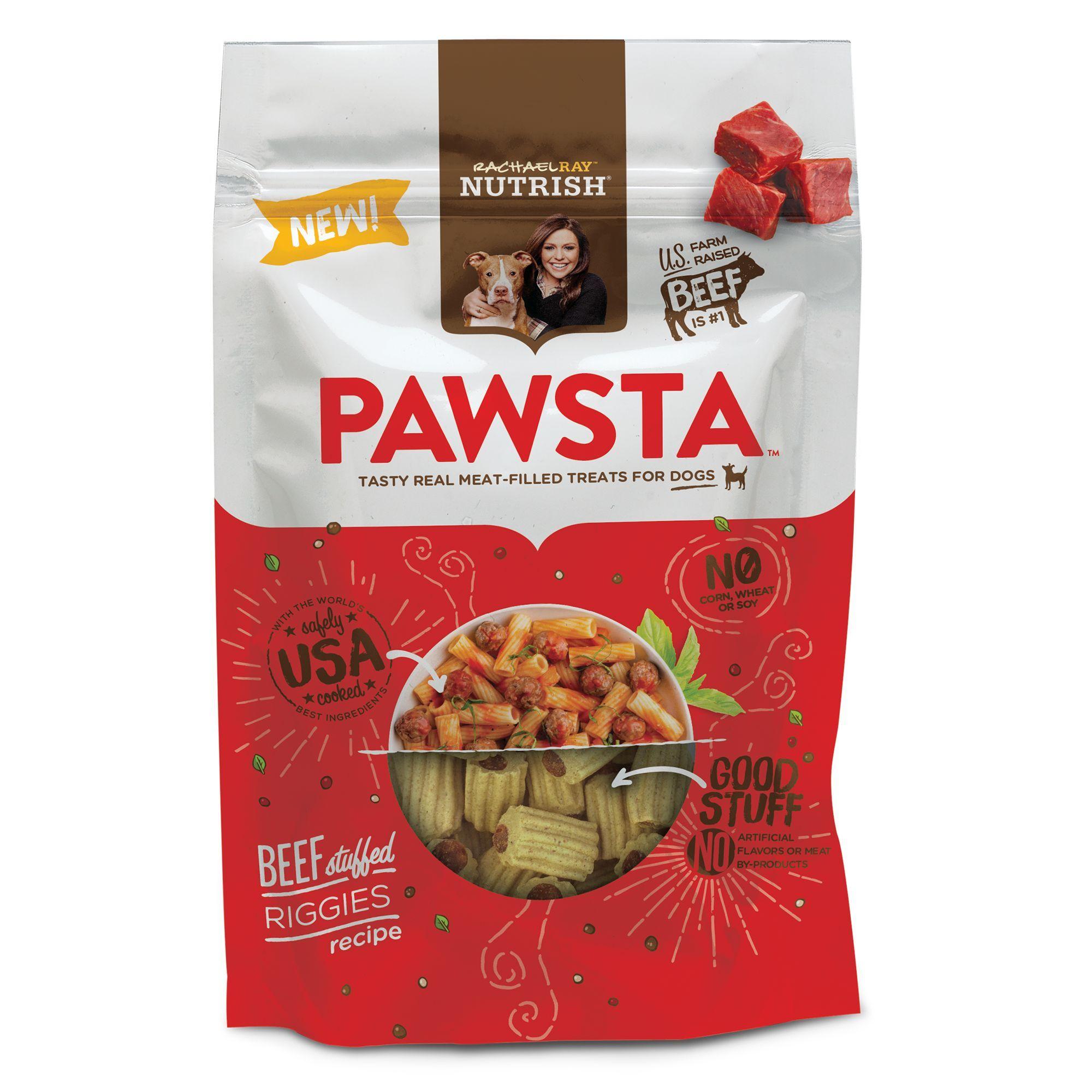 Rachael Ray Nutrish Pawsta Dog Treat Beef Stuffed Riggies