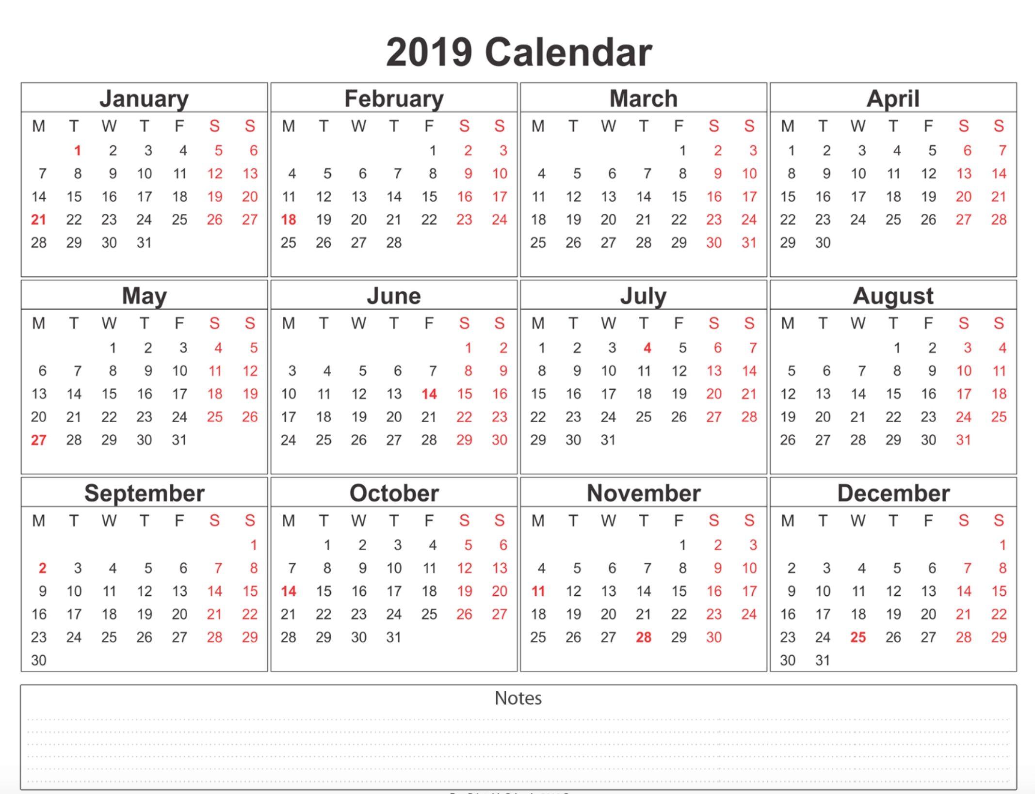Catch Blank 2019 Calendar Word 3 Months To Page Calendar 2019
