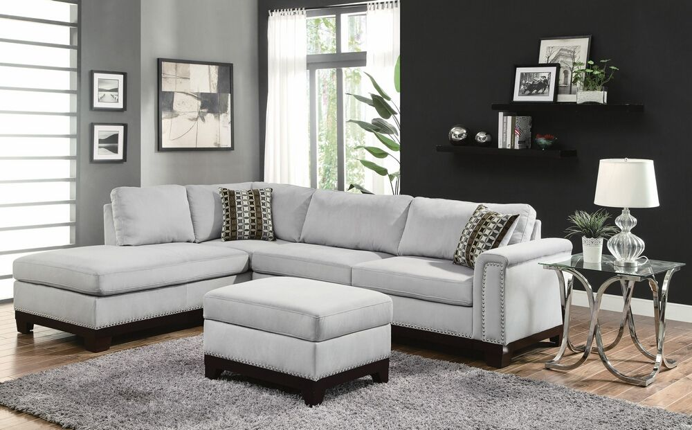 Phenomenal 503615 2 Pc Mason Blue Grey Velvet Fabric Sectional Sofa Creativecarmelina Interior Chair Design Creativecarmelinacom