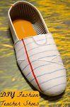 DIY Teacher Gift Canvas Fashion Shoes