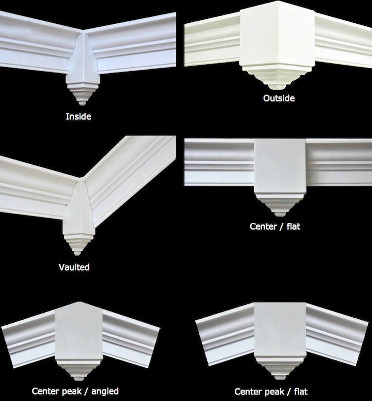 Crown molding corner blocks. www.creativecrown.com   Things to ...