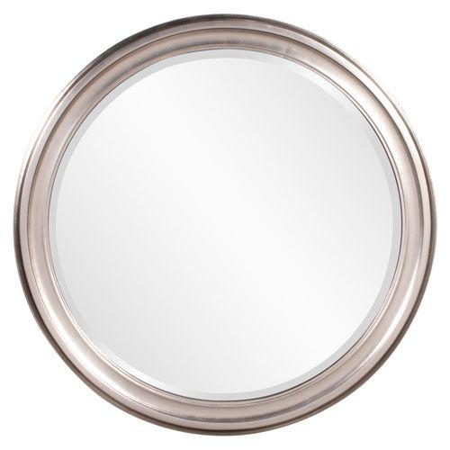 Howard Elliott Collection George Brushed Nickel Round Mirror