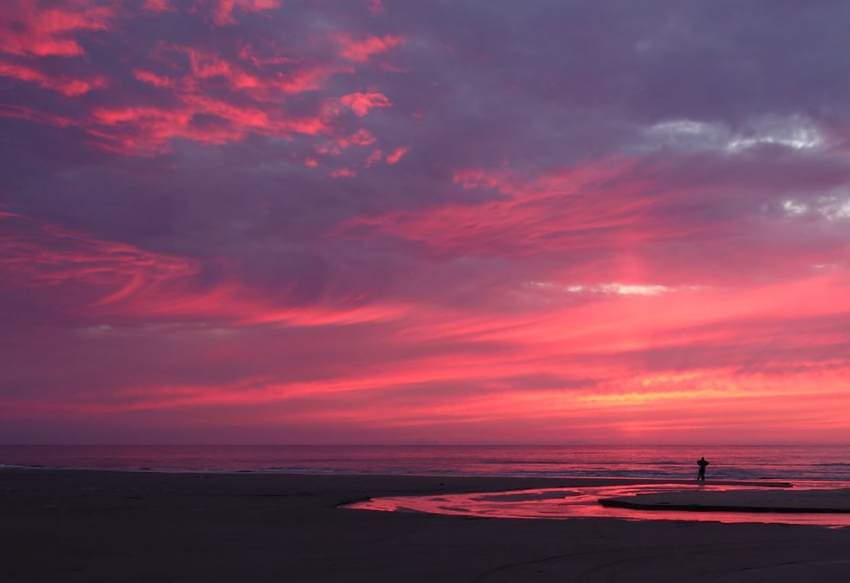 Sonnenuntergang am meer romantisch