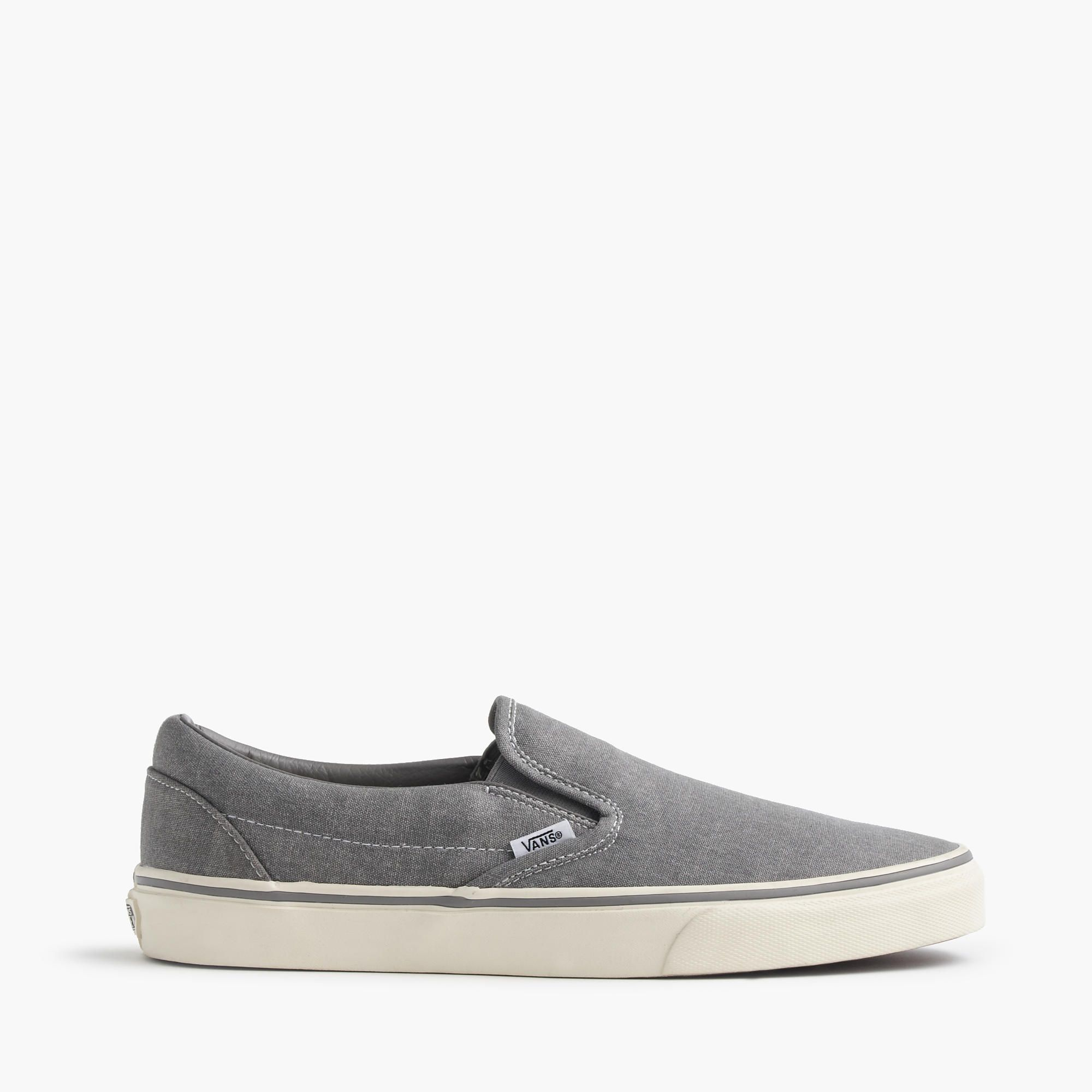 Shop the Vans For J.Crew Washed Canvas Classic Slip-On Sneakers at  JCrew.com and see our entire selection of Men's Sneakers.