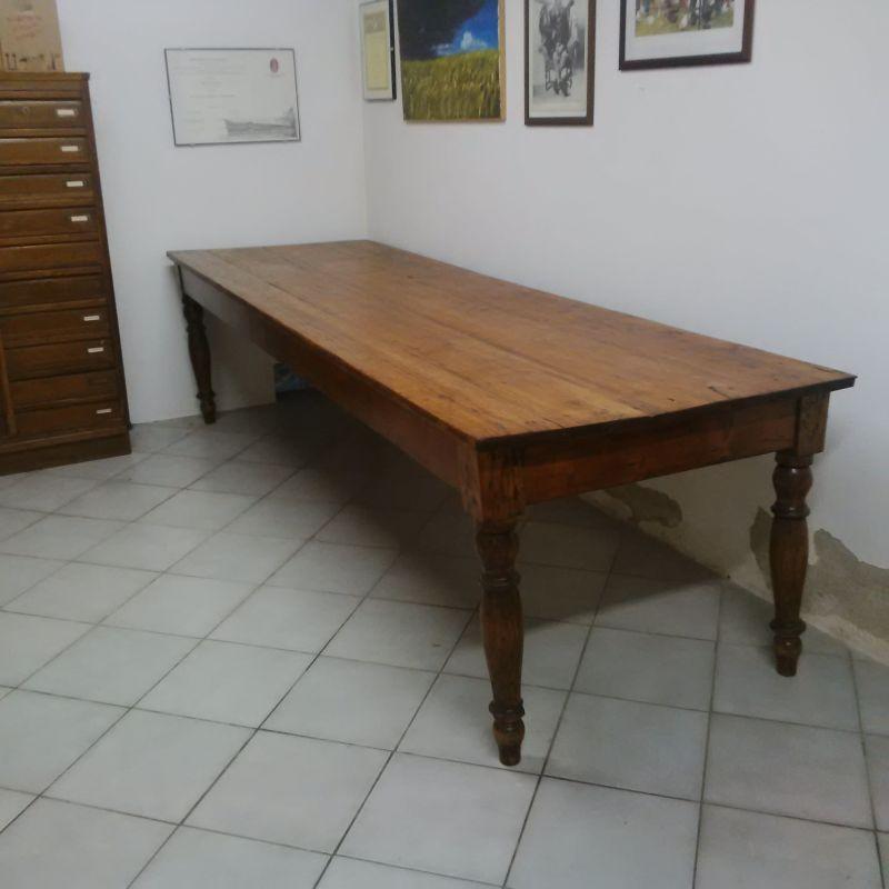 Grande tavolo abete arte povera antico da taverna agriturismo ...