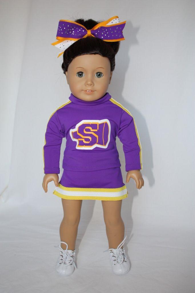 995f66c15973c2 custom cheerleader uniform for American Girl doll by PixieDustDollclothes  on Etsy