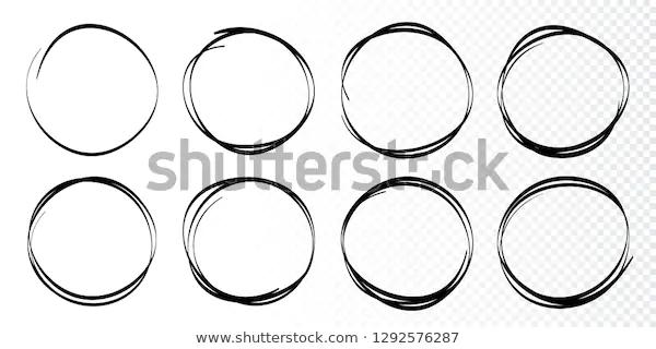 Hand Drawn Circles Sketch Frame Set Stock Vector Royalty Free 1292576287 In 2020 How To Draw Hands Circular Logo Design Circular Logo
