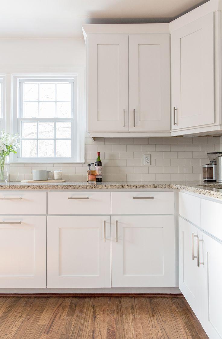 A Simple Kitchen Update The Fresh Exchange Behr S Ultra Pure White Kitchen Remodel Small Kitchen Cabinets Decor Kitchen Cabinet Design