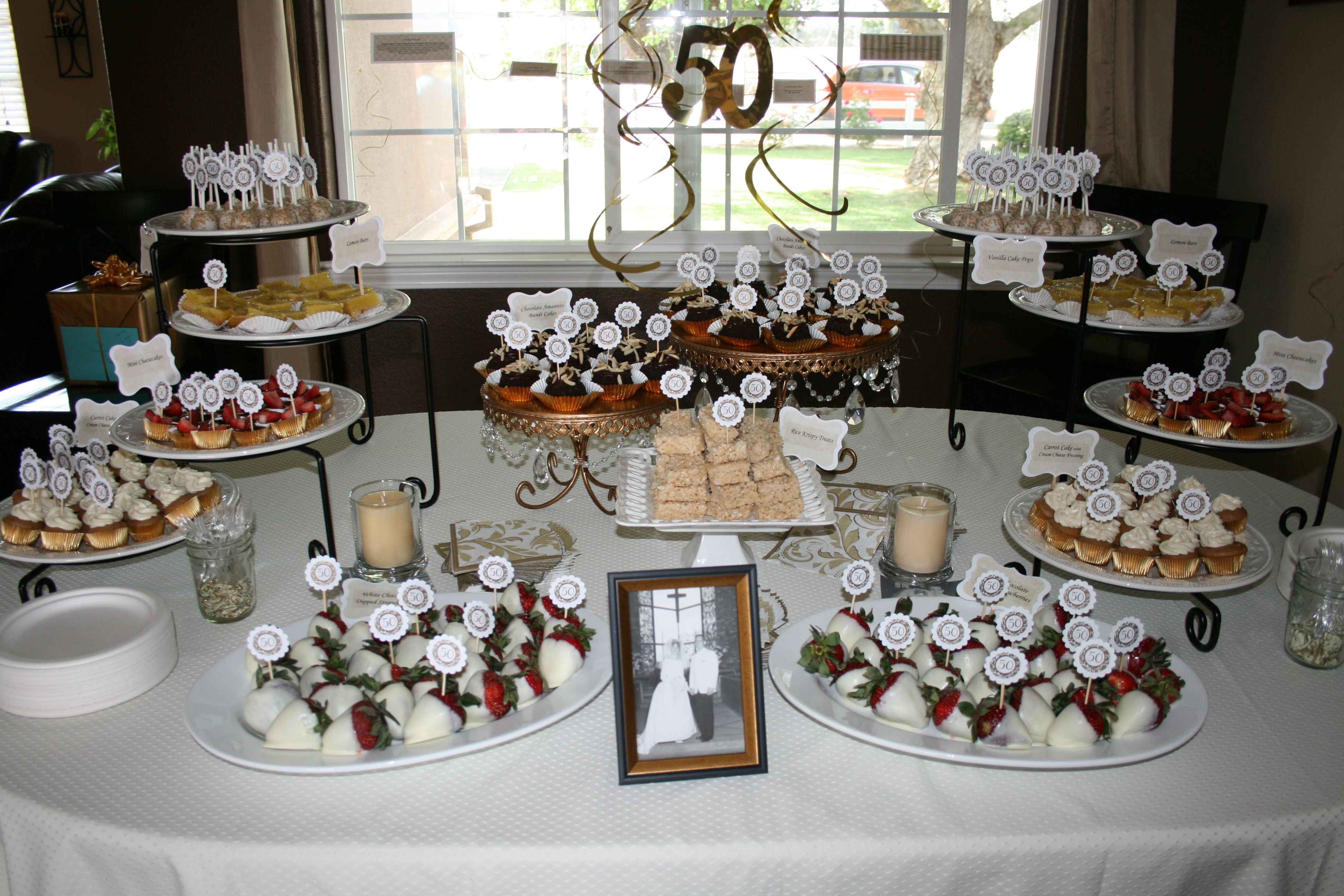 50th wedding anniversary dessert buffet one fine day events and