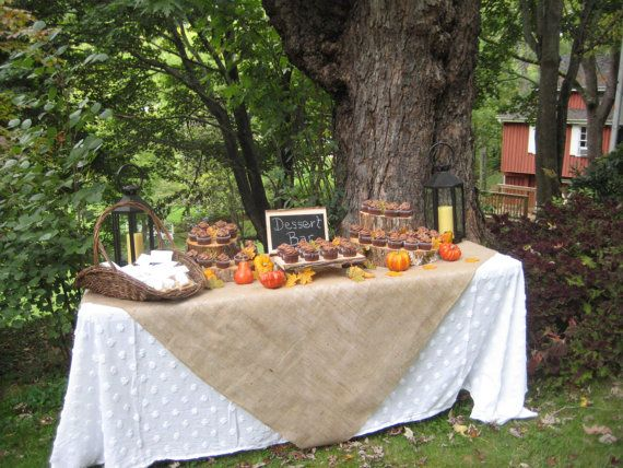 Rustic Wedding Decor Burlap Table Topper Tablecloth Runner. $24.95, Via  Etsy.