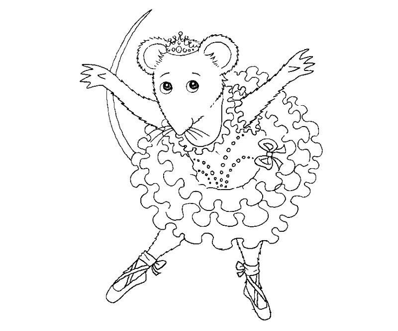 6 Angelina Ballerina Coloring Page   Printables   Pinterest   Bailarines