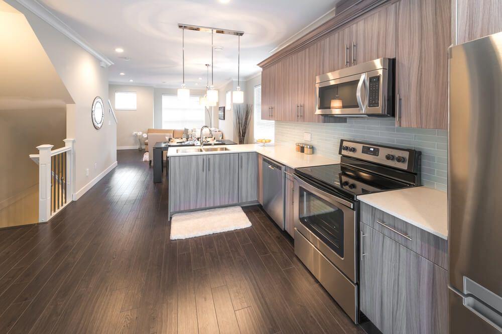 Pin By Diza Design On Grey Hardwood Floors Grey Wood Floors Kitchen Hardwood Floors In Kitchen Grey Kitchen Floor