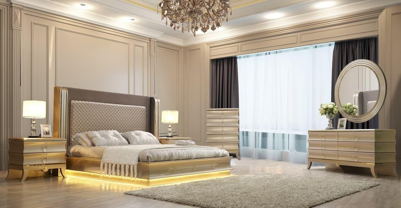 King Size Hd 925 Golden Bedroom Set Savvy Discount Furniture