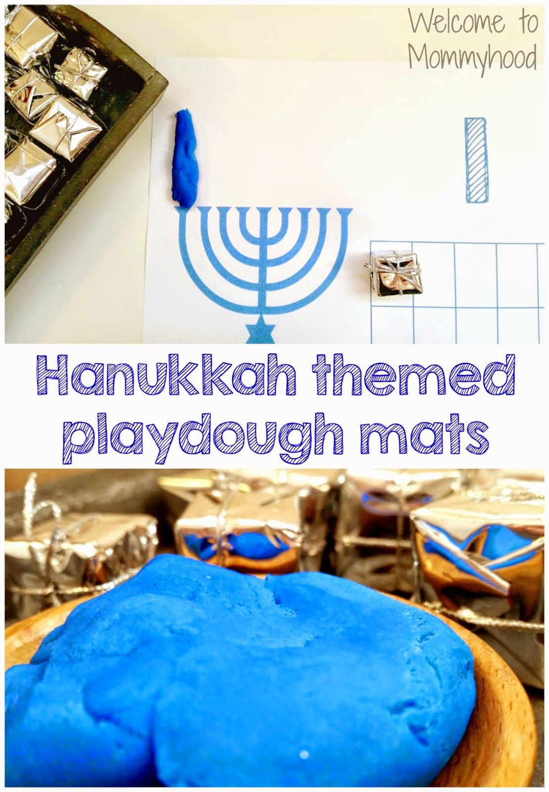 Hanukkah Activities Free Playdough Mat Printable Welcome To