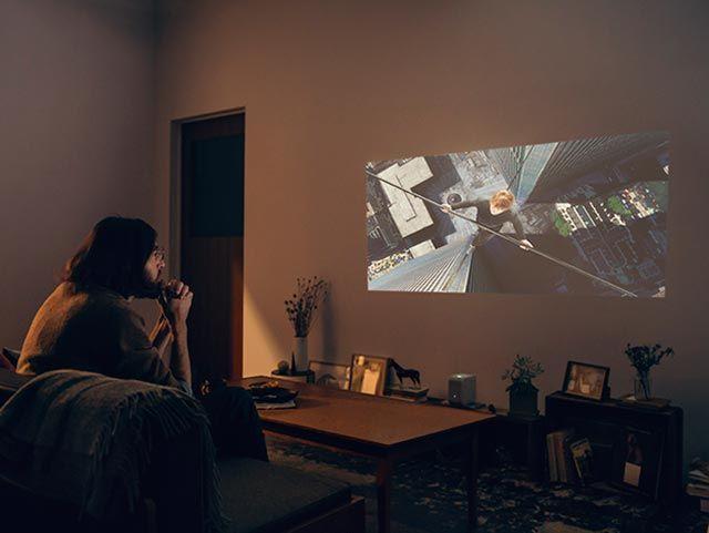 Lspx P1で映画を見る プロジェクター ホームシアター シアタールーム