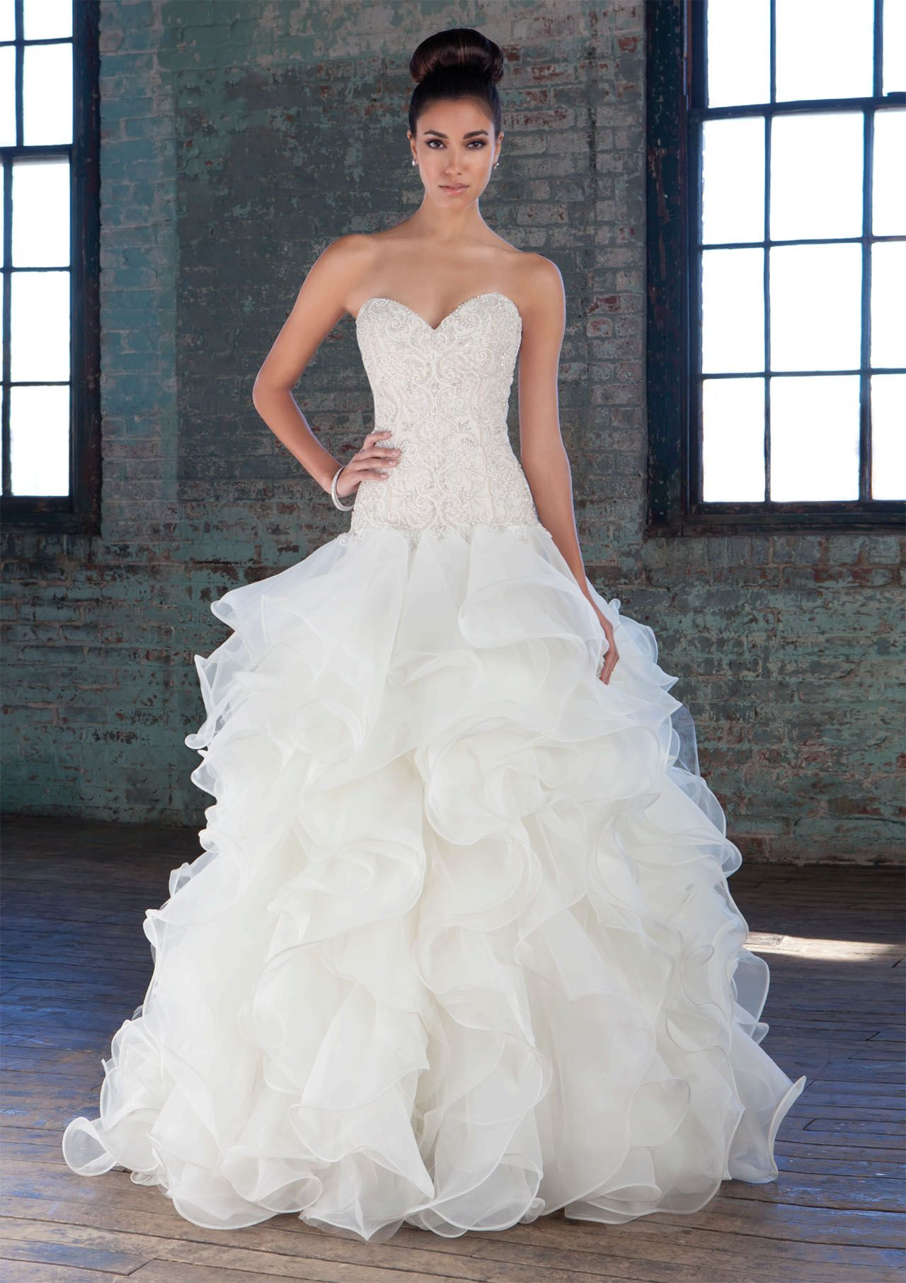 New Designer Beaded Organza Sweetheart A-line Wedding Dress with ...