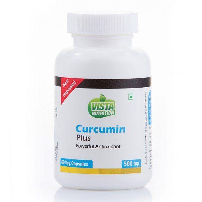 Vista Nutrition Curcumin Plus  500mg  60 veg capsules