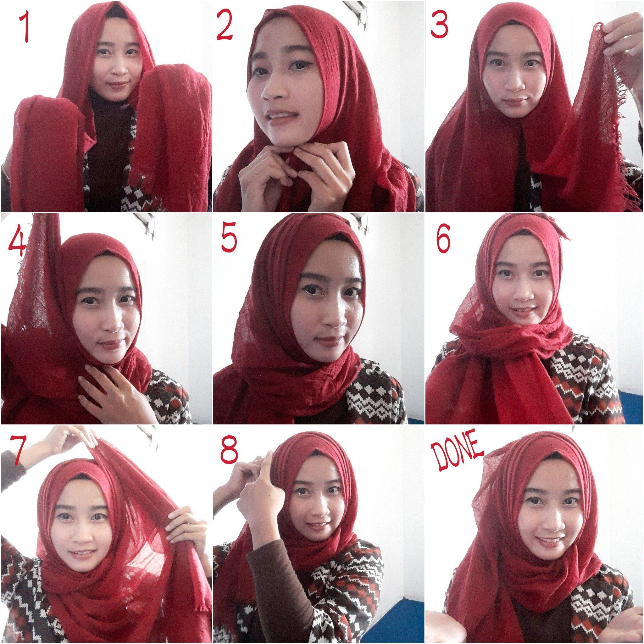 My Tutorial Daily Hijab 1 Gunakan Pashmina Dengan Sisi Kanan