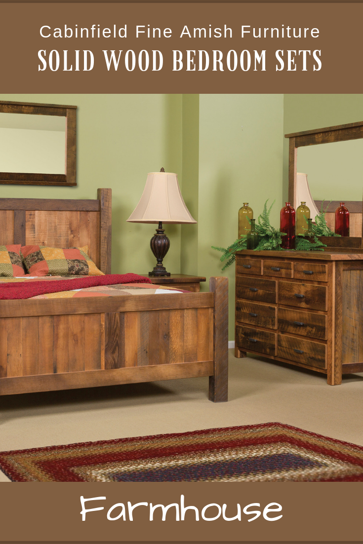 Farmhouse amish bedroom set new at cabinfield pinterest