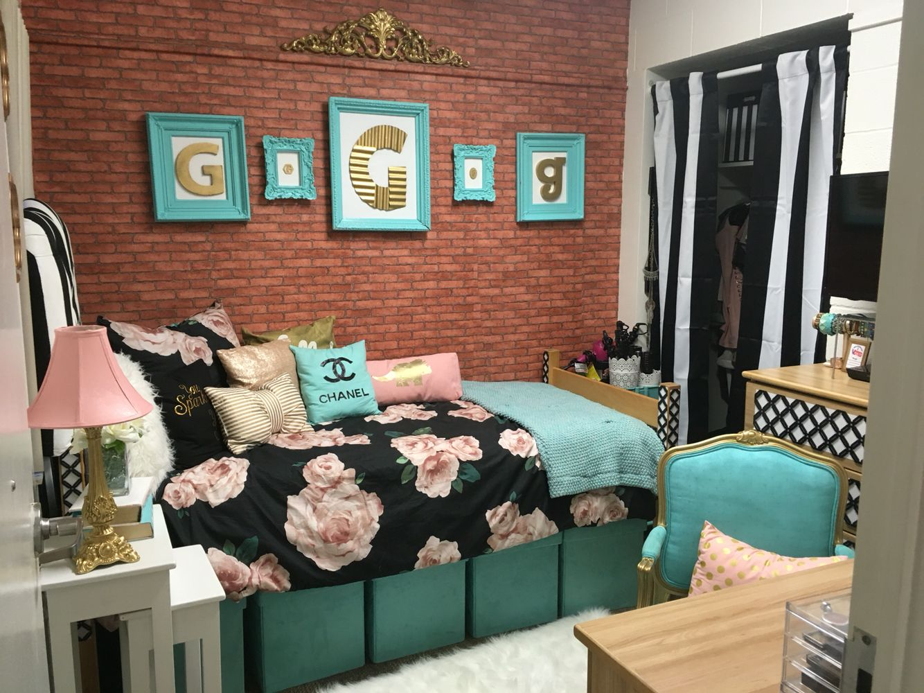 Gabbies UCF Dorm Room 2016 Cool Ideas Makeover Girls Freshman Residence Hall