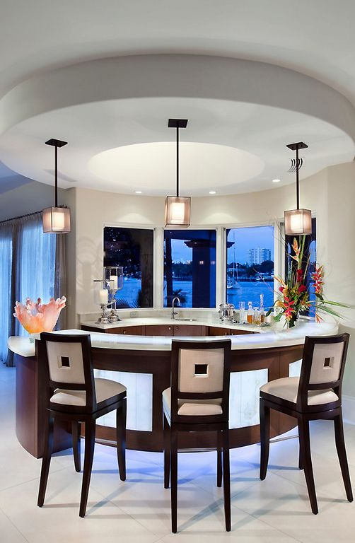 A World Of Dream Homes Home Modern Round Kitchen Bars For Home