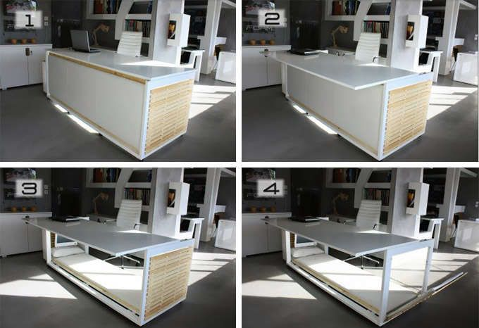 Afternoon Nap Bunk Desks Bed Desk Small Spaces Convertible Desk