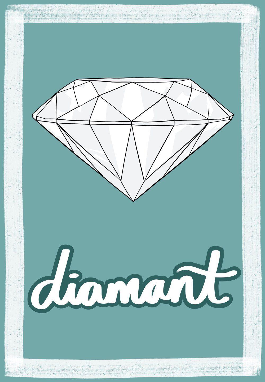 Diamant French Flashcard by Melissa Zahradnicek | French Flashcards ...