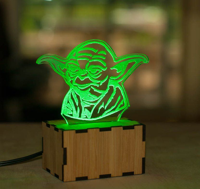 These neat acrylic Star Wars lamps from Etsy seller lampUp ...