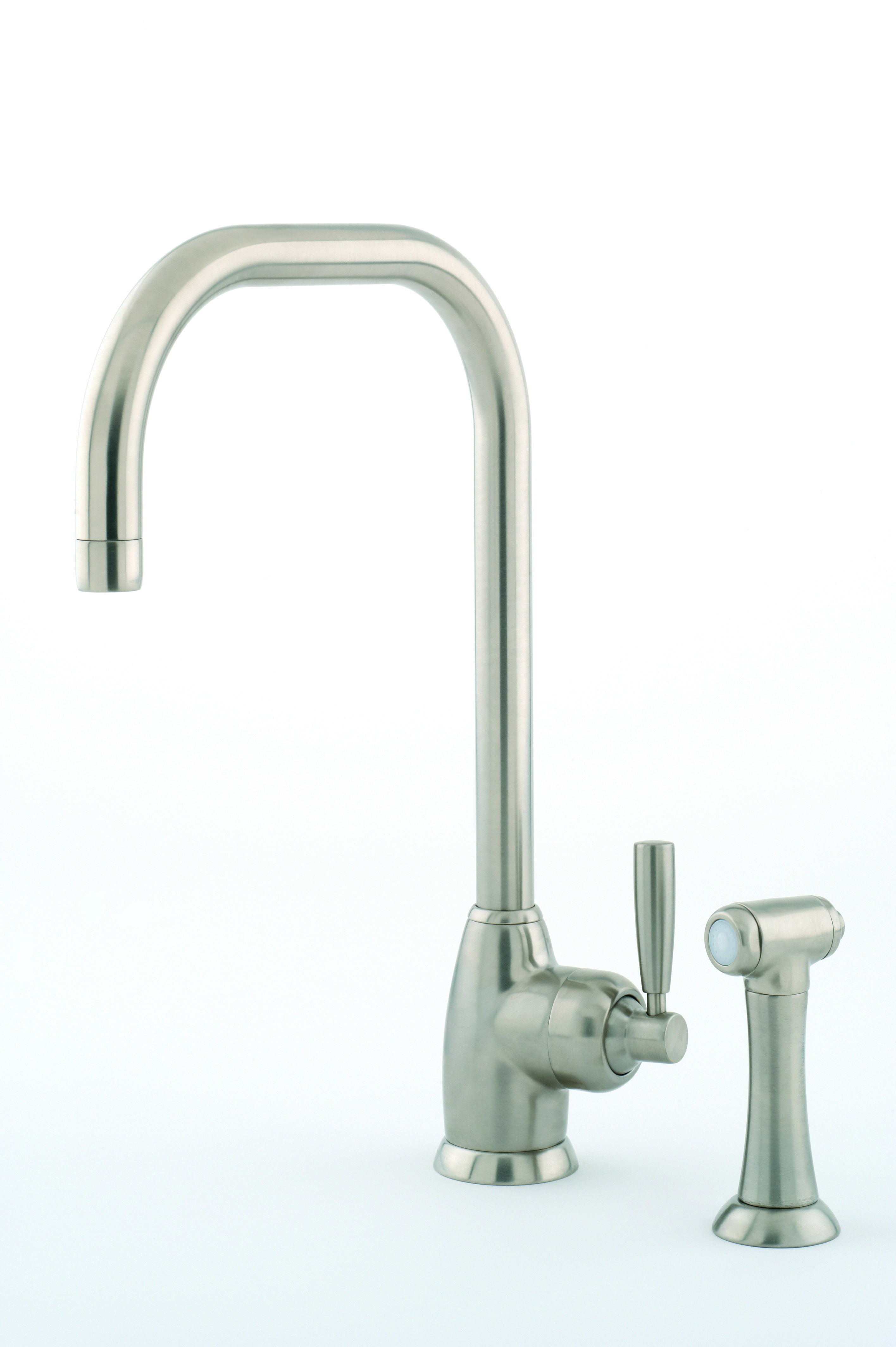 Perrin & Rowe Mimas Single Lever Sink Mixer with U Spout and Rinse ...