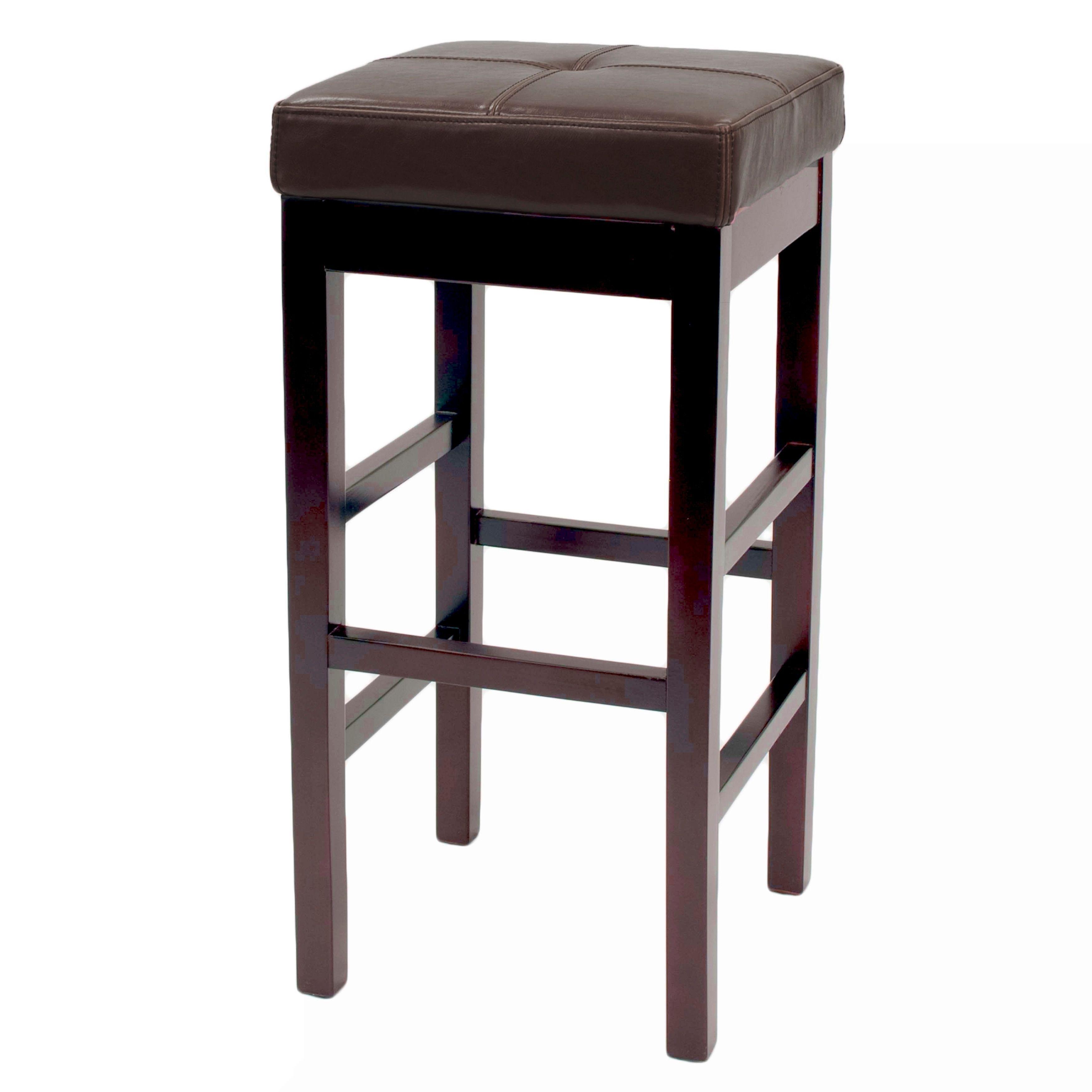 Fine Copper Grove Valencia Backless Leather Square Bar Stool Machost Co Dining Chair Design Ideas Machostcouk