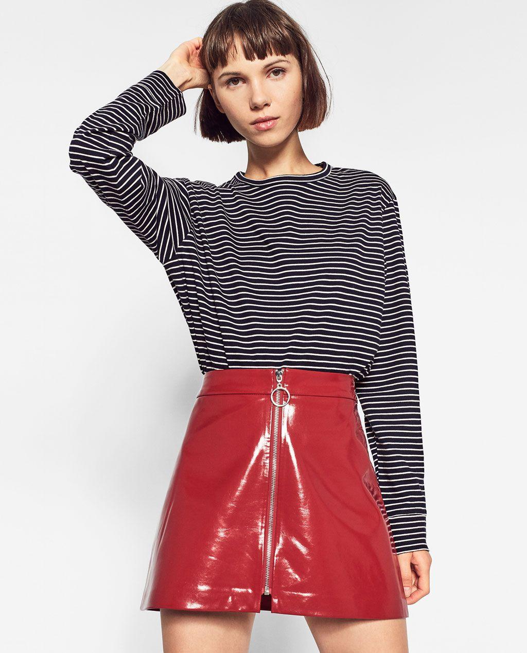 19d391a8f Image 2 of MINI PATENT FINISH SKIRT from Zara | Moda en 2019 | Ropa ...