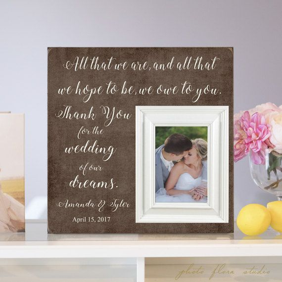Parents Thank You Wedding Gift All that I am I by PhotoFloraStudio ...