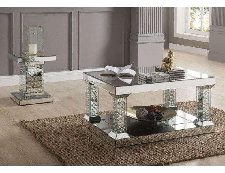 Vedlin Mirrored Coffee Table Mirrored coffee tables, 3
