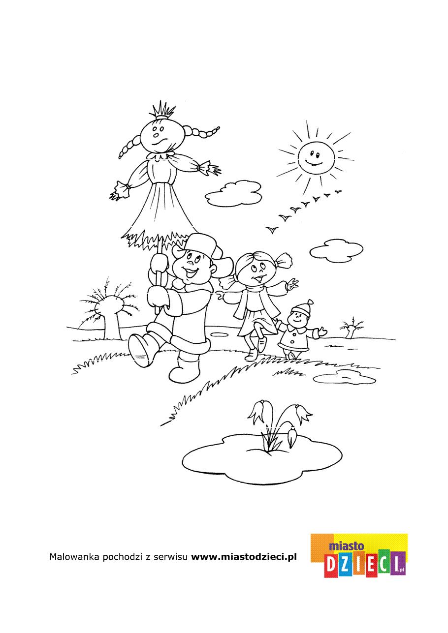 Marzanna Wiosenna Kolorowanka Do Wydrukowania Dzieci Slonce I Marzanna Powitajmy Wiosne Kolorujac Te P In 2020 Easter Coloring Pages Coloring Books Coloring Pages