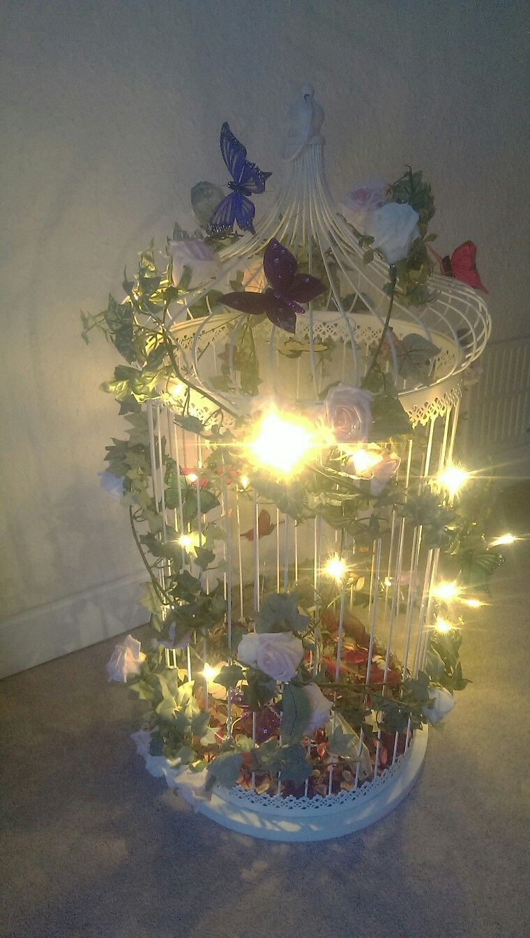 Wedding post box decorations  Prelit Butterfly wedding post boxprop  Themed Wedding Card Post