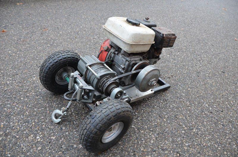 very powerful winch honda 5 5hp engine with centrifugal clutch